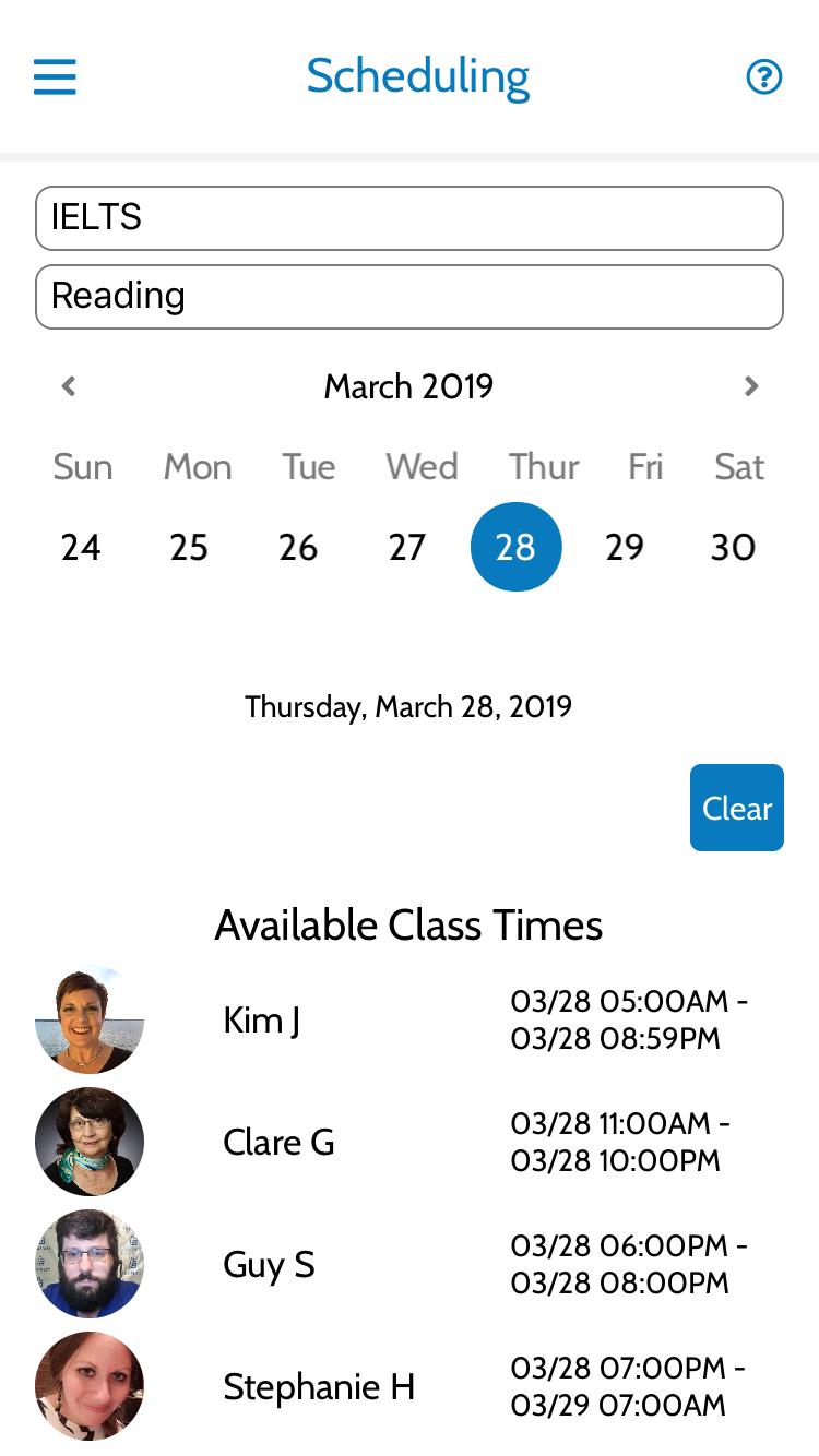 Class App Screenshot 2